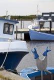 Blaue Arbeits-Handschuhe Lizenzfreie Stockfotos