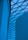 Blaue Architektur Stockfoto