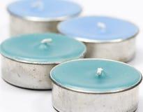 Blaue Aroma-Kerze Stockbild