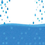 Blaue Art deco Tropfenkarte Stockfoto