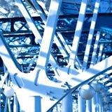 Blaue Aufbauten Lizenzfreie Stockfotos