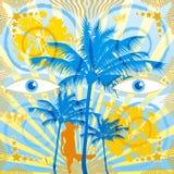 Blaue Augen lizenzfreie abbildung