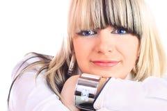 Blaue Augen blond Stockbilder