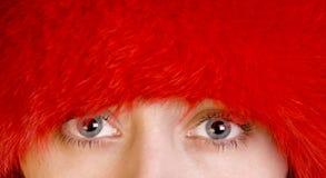 Blaue Augen der Frauen lizenzfreies stockfoto