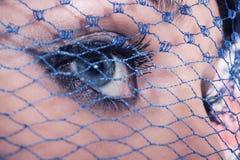 Blaue Augen der jungen Frau Lizenzfreie Stockfotos