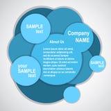 Blaue Auslegung der abstrakten Web site, vektorschablone Stockbild