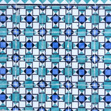 Blaue azulejos auf dem Äußeren des Gebäudes Stockfotos