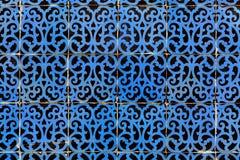 Blaue azulejos - Fliesen von Lissabon Lizenzfreie Stockfotos