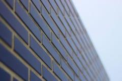 Blaue Backsteinmauer stockbilder
