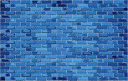Blaue Backsteinmauer Stockfotografie