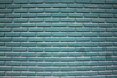 Blaue Backsteinmauer-Beschaffenheit Stockbild