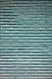Blaue Backsteinmauer-Beschaffenheit Stockfoto