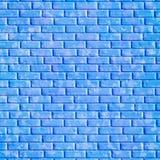 Blaue Backsteinmauer, Hintergrund Stockbild