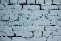 Blaue Backsteinmauer mit Schalenfarben-Hintergrundbeschaffenheit Stockfotos