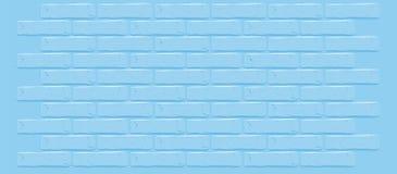 Blaue Backsteinmauerbeschaffenheit Gebrochener leerer Hintergrund Schmutzbonbontapete Weinlese legen Steine in den Weg stock abbildung