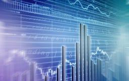 Blaue Balkendiagrammabbildung Stockfoto