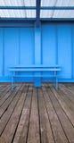 Blaue Bank Lizenzfreie Stockfotografie