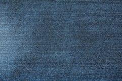 Blaue Baumwollstoffbeschaffenheit Stockfotografie
