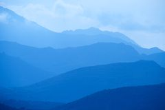 Blaue Berge von Korsika Stockfoto
