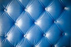 Blaue Beschaffenheit des Sofas Lizenzfreie Stockbilder