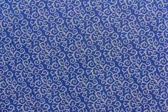 Blaue Beschaffenheit und weißes Muster Lizenzfreies Stockfoto