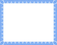 Blaue Bescheinigung Stockfoto