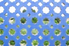 Blaue Betonmauer Lizenzfreie Stockfotos