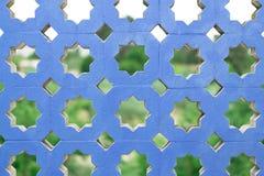 Blaue Betonmauer Stockfoto