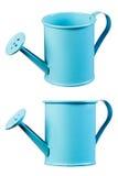Blaue Bewässerungsdose Stockbild