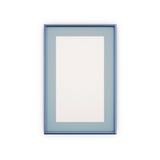 Blaue Bilderrahmen und Bilder Lizenzfreies Stockfoto