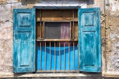 Blaue Blendenverschlüsse Stockfotos