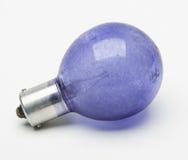 Blaue Blitzbirne Lizenzfreies Stockfoto
