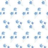 Blaue Blumen des Illustrationsmusters vektor abbildung