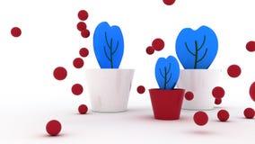 Blaue Blumen in einem Potenziometer Lizenzfreie Stockbilder