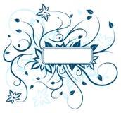 Blaue Blumenauslegung Lizenzfreies Stockfoto