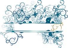blaue Blumenfahne Lizenzfreies Stockbild