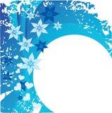 Blaue Blumenkarte stock abbildung