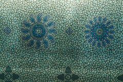 Blaue Blumentapete Lizenzfreies Stockfoto