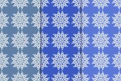 Blaue Blumenverzierungen Satz vertikale nahtlose Muster Lizenzfreies Stockfoto