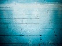 Blaue Bodenfliese in der Schmutzart Stockfotos