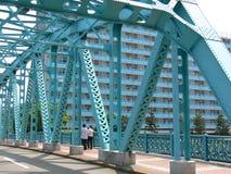 Blaue Brücke Stockfoto