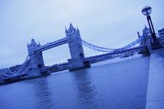 Blaue Brücke Stockbild