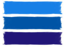 Blaue Brushstrokes Lizenzfreie Stockfotos