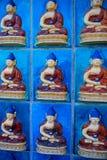Blaue Buddha-Fliesen  Stockfotos