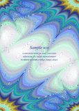 Blaue bunte Seitenecken-Designschablone Lizenzfreies Stockfoto