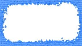 Blaue Buntglasrahmenillustration stockbild