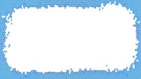 Blaue Buntglasrahmenillustration stockbilder