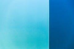 Blaue cyan-blaue Wand Lizenzfreies Stockfoto