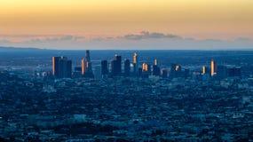 Blaue Dämmerung in Los Angeles lizenzfreie stockfotografie