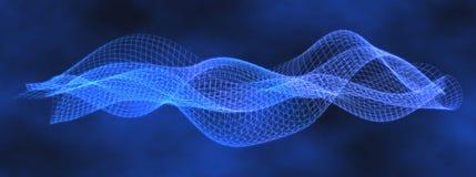 Blaue Daten-Welle im wallend Muster Stockfotos